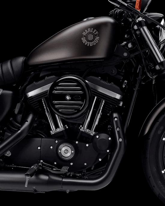 MOTOR EVOLUTION™  DE 883 CC, ENFRIADO POR AIREAuténtico estilo Harley-Davidson con una enorme potencia. El motor Evolution™de 883cc montado sobre caucho tiene un funcionamiento intenso y se desplaza suavemente por miles de kilómetros, para que solo pienses en disfrutar la libertad al recorrer bulevares y calles.
