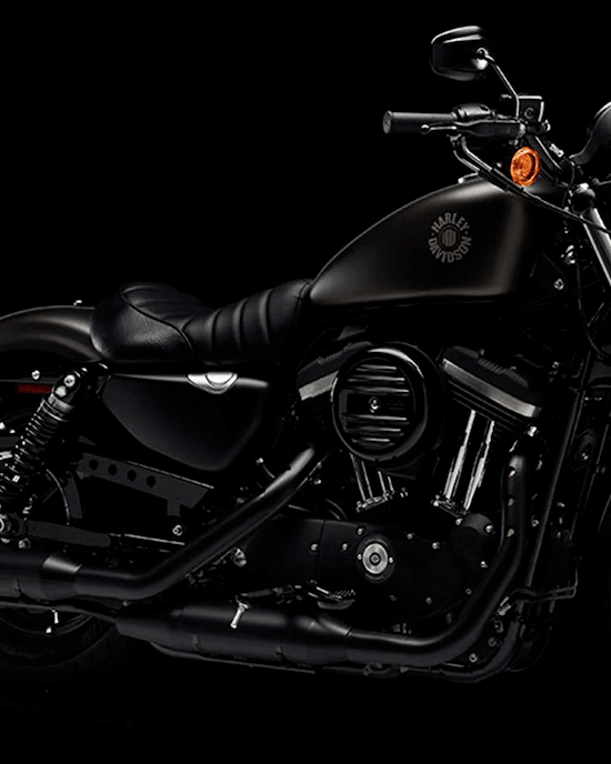 ASPECTO OSCURECIDOEs la moto emblemática del movimiento anticromo. Motor de 883 cc con recubrimiento de polvo negro y cubiertas negras para los balancines. Cubierta redonda del filtro de aire retro color negro. Salpidaderas cortas para presumir los neumáticos y horquillas delanteras negras con cocodrilos, para agregar un poco de nostalgia old-school.