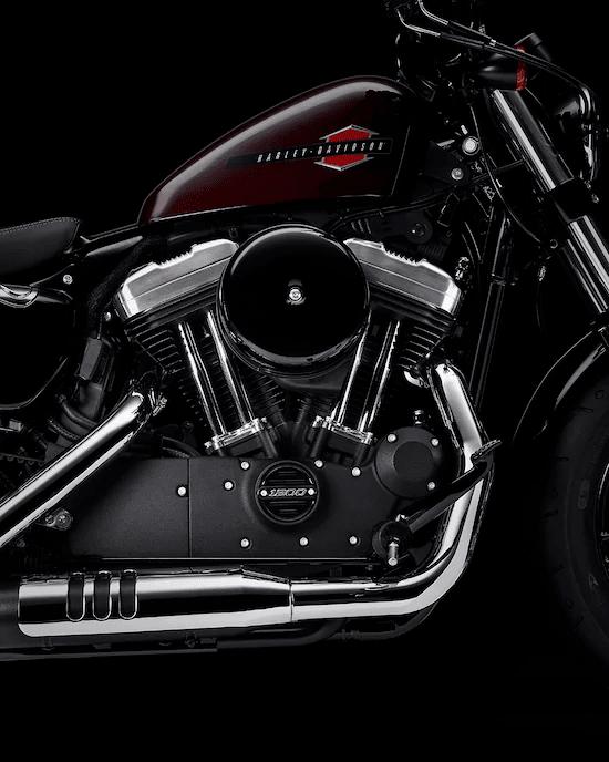 MOTOR EVOLUTION™  DE 1200 CC, ENFRIADO POR AIREUn icónico motor V-Twin que es reconocido por su impresionante par de torsión y un sonido que gratifica el alma. Cilindros y cabezales de aluminio livianos que optimizan el enfriamiento de aire.