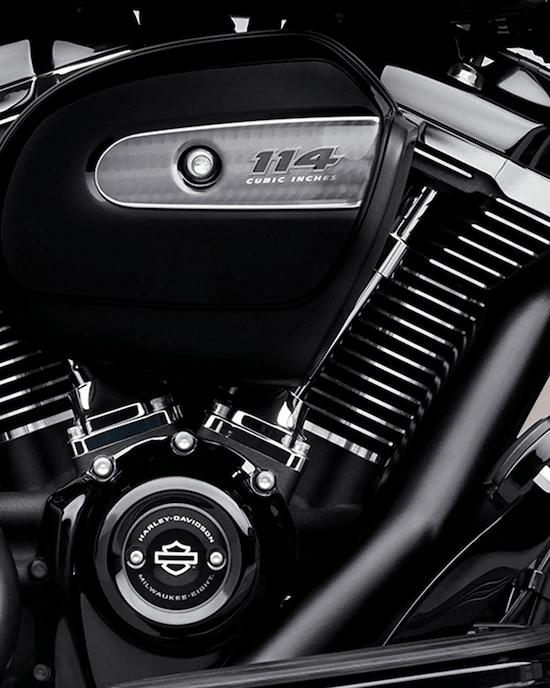 MOTOR MILWAUKEE-EIGHT™ 114La mayor cilindrada en el motor entre los modelos estándar H-D™ Touring. 114 cc de potencia de paso para perseguir el horizonte.